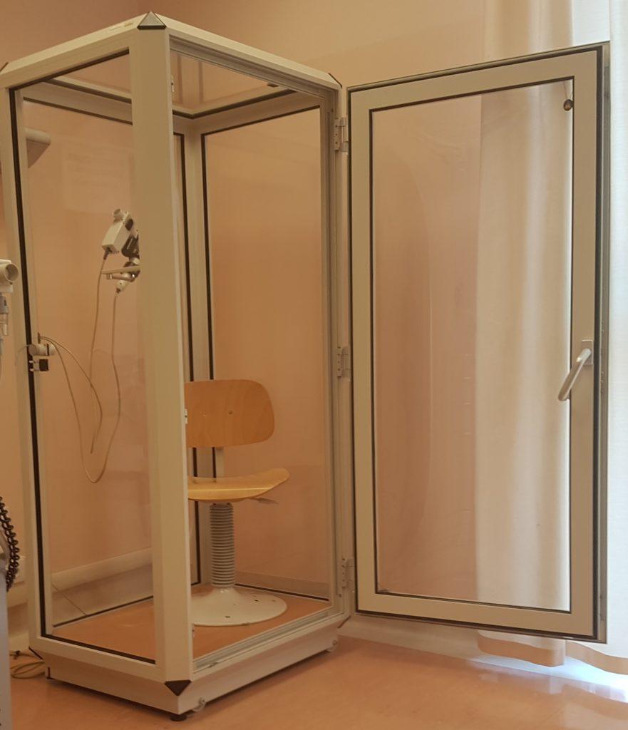 Una cabina pletismografica