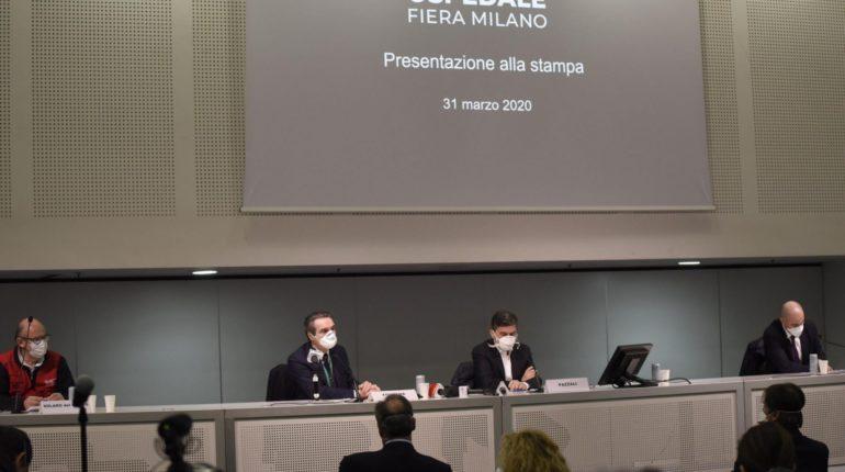 Conferenza stampa alla fiera di Milano