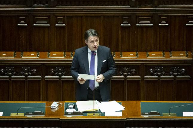 Il Presidente Conte in parlamento