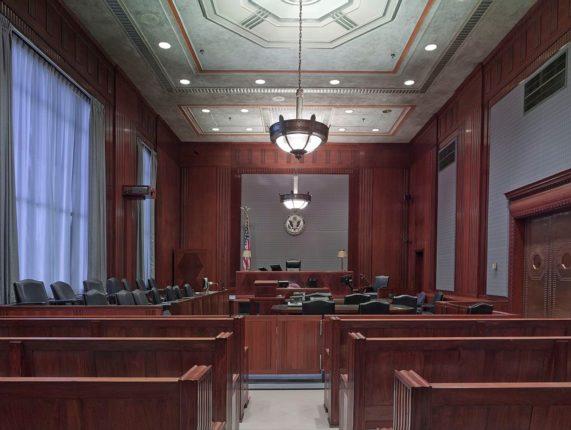 Una aula di giustizia negli Stati Uniti d'America