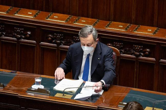 Presidente Consiglio Draghi al Parlamento