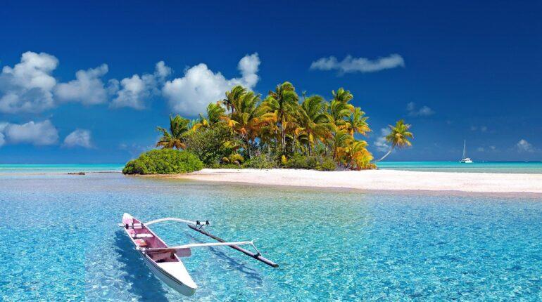 Isola deserta nel pacifico