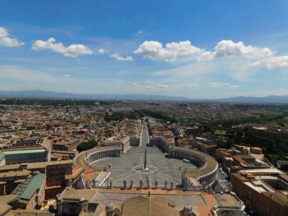 Paesaggio di Roma dalla Cupola di San Pietro