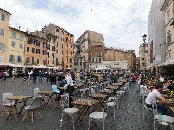 Movida in Campo de Fiori a Roma
