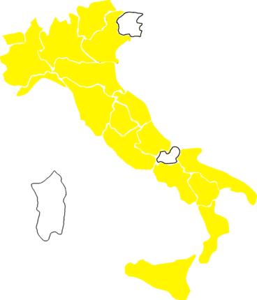 LA mappa dei colori delle regioni italiane aggiornata al 31 maggio 2021